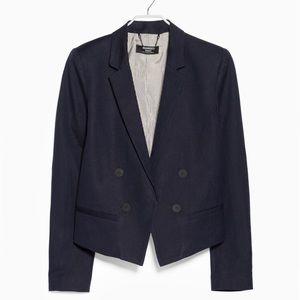 NWOT MANGO Navy blue blazer